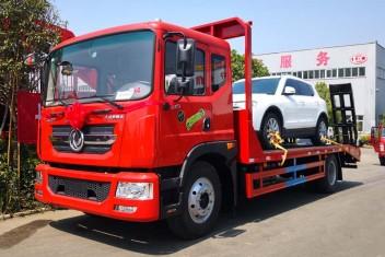 东风多利卡D9平板运输车拖车